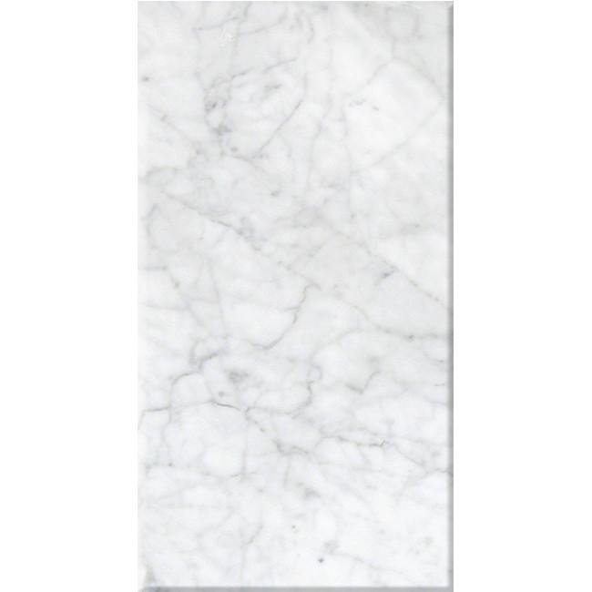 Bianco carrara polished 12x24 tiles direct store for Carrara marble per square foot