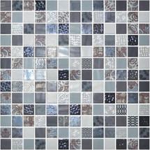 Glass Onix Cosmic Arezzo 1x1 Mosaic Blend
