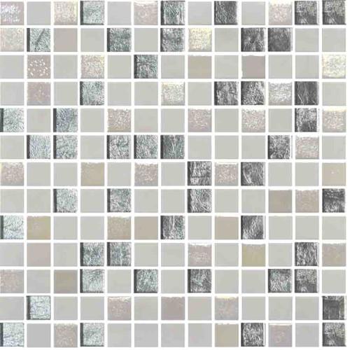 Glass Onix Mystic Arola 1x1 Mosaic Blend