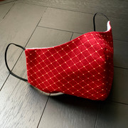 Face Mask - Red Print