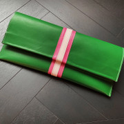 Custom Clutch - Pink & Green