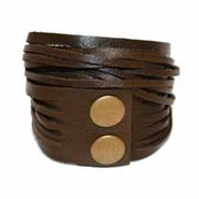 Leather Wrap Bracelet - Bark