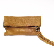 The Jordan Fold-Over Clutch - Tan