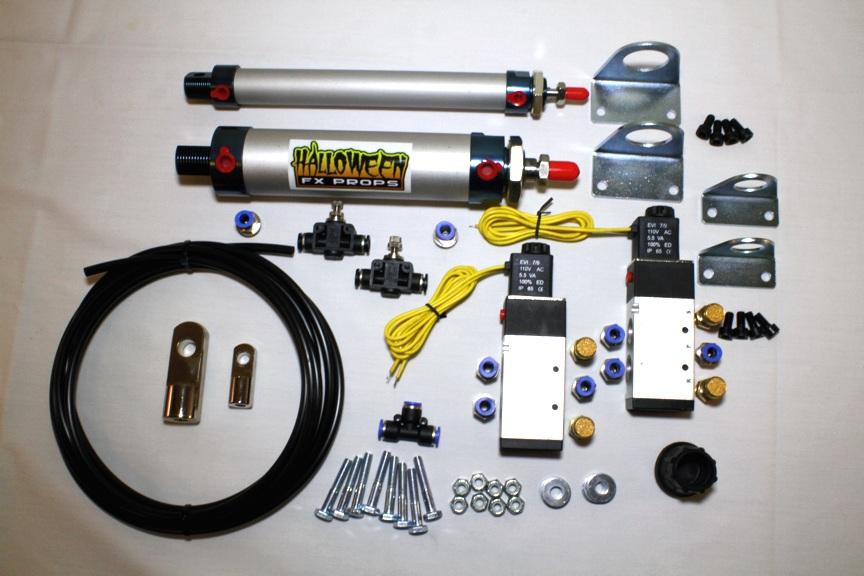pneumatic parts animatronic prop parts coffin bouncer kit