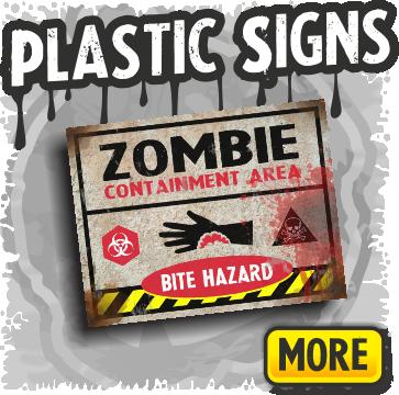 plastic halloween yard signs decorations