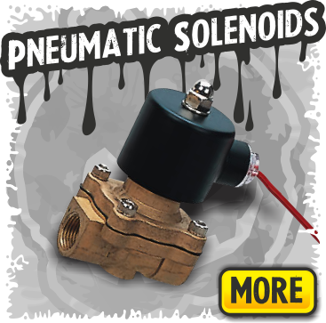 Pneumatic Solenoids for Air Powered Halloween Props