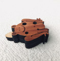 "Frog Ocarina Flute key of ""A"" Major Cedar"