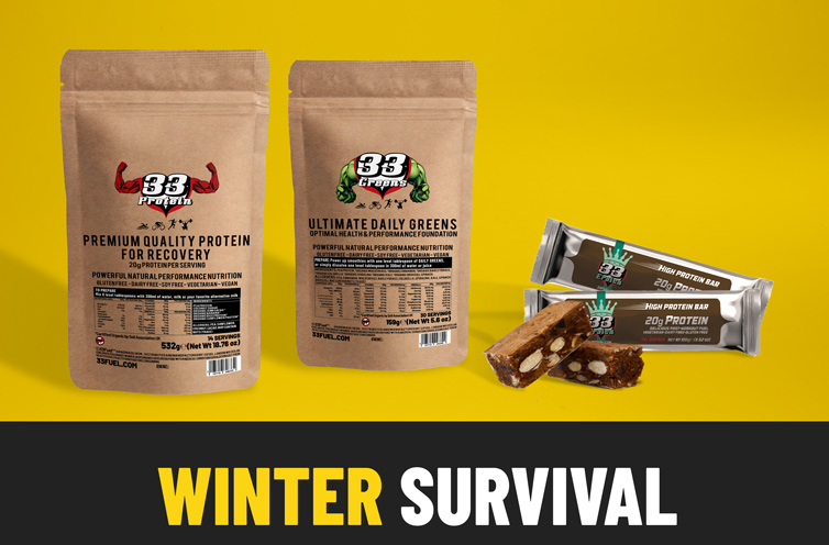 33fuel 17 ways to hack winter training - winter survival bundle