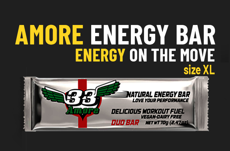 33fuel marginal gains for long term benefits - amore energy bar