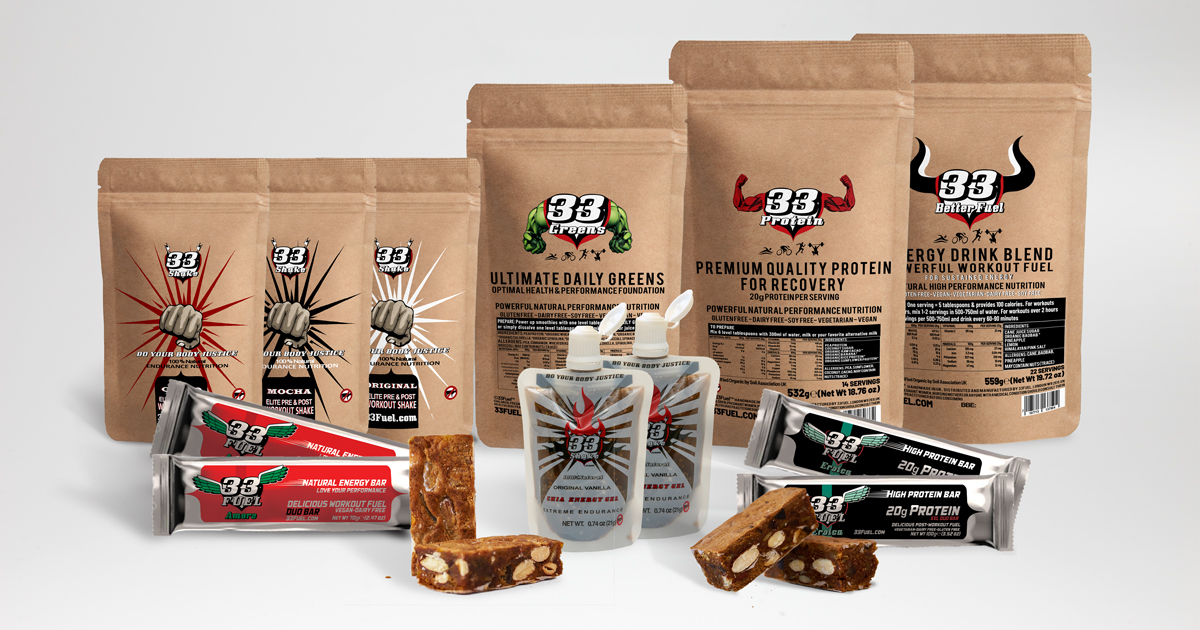 33fuel plant based diet for athletes - game changr bundle