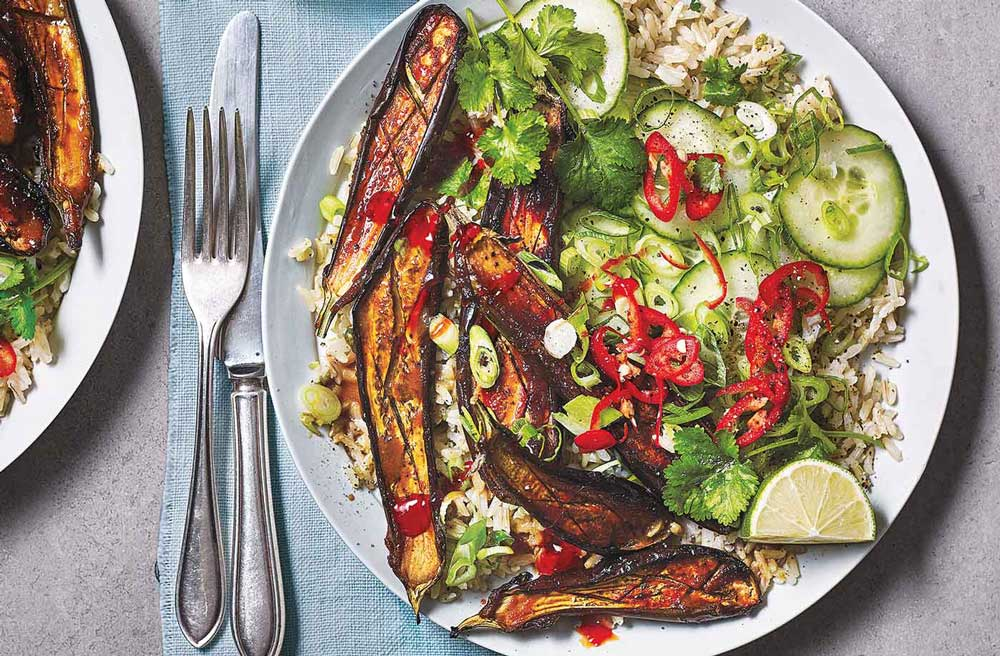 33fuel veganuary recipes - roasted vegetables with rice