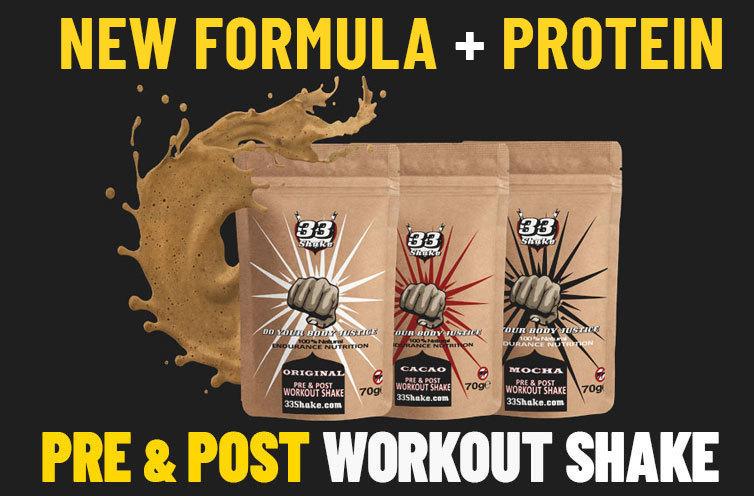 33shake pre and post workout shake