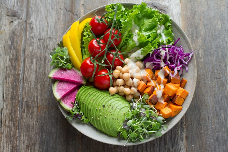 Training when sick - veggie bowl