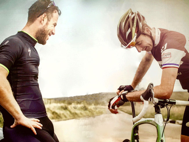 Mark Cavendish training