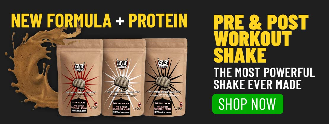 Post-workout nutrition 33shake elite pre and post workout shake