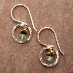 Petite Circle Earrings (w/multiple stone options)