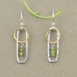 Framed Circle Earrings