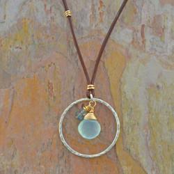 Circled Chalcedony & Labradorites Necklace