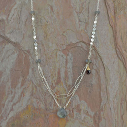 Sterling Silver & Labradorite Necklace