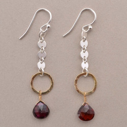 Hearts of Garnet Earrings