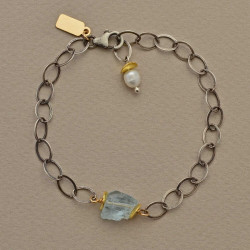 Perched Aquamarine Bracelet