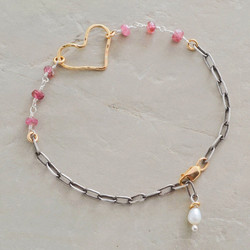 Rosy Heart Bracelet
