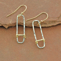 Wrapped Geometric Earrings