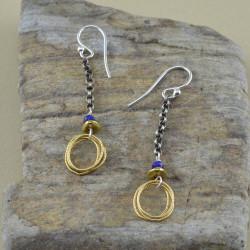 Loop & Lapis Earrings