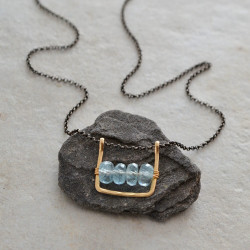 Framed Aquamarine Necklace