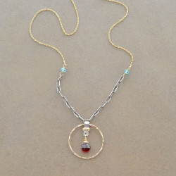 Charmed Garnet Necklace
