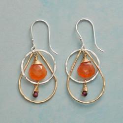 Carnelian Fire Earrings