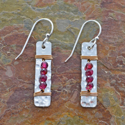 Garnet Platter Earrings