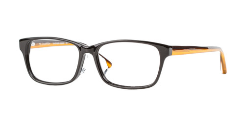 C1 Black w/ Clear & Orange Temples