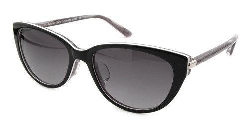 C1 Black/Charcoal White Trim w/ Gray Gradient Polarized Lenses