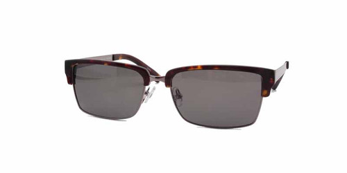 C1 Tortoise and Silver w/ Solid Gray CR39 Lenses