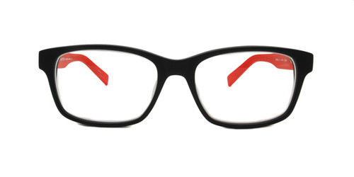C1 Large Black w/ Red Temples