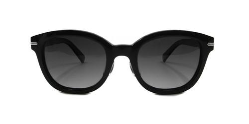 C1 Shiny Black w/ Grey Gradient Polarized Lenses