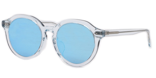 C1 Crystal Blue w/ Flat Blue Mirrored Lenses