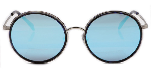 C1 Sapphire w/ Flat Blue Mirrored Lenses