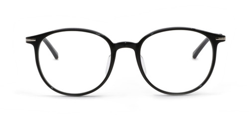 Solid Black with Silver Temples (C1)