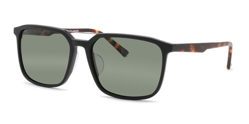 Matted Black with Tortoise Temples and G15 Green Polarized Lenses (C1)