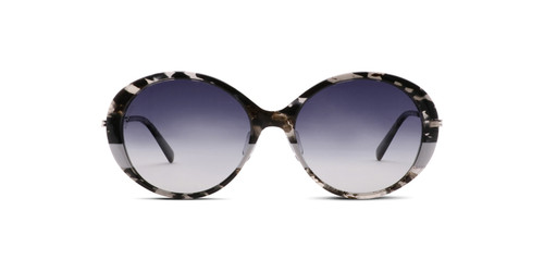 Black/Crystal Marble w/ Gray Stripe and Silver Temples w/ Gray Gradient Polarized Lenses (C1)