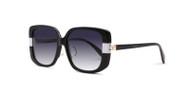 Black w/ White Stripe w/ Gray Gradient Lenses  (C1)