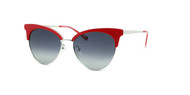 Pearl Red with Silver Trim w/ Gray Gradient Polarized Lenses (C3)