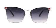 C1 Black / Red / Silver w. Gray Gradient Gray Gradient Nylon Lenses