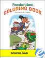 Pinocchio's Quest - Coloring Book - PDF Download