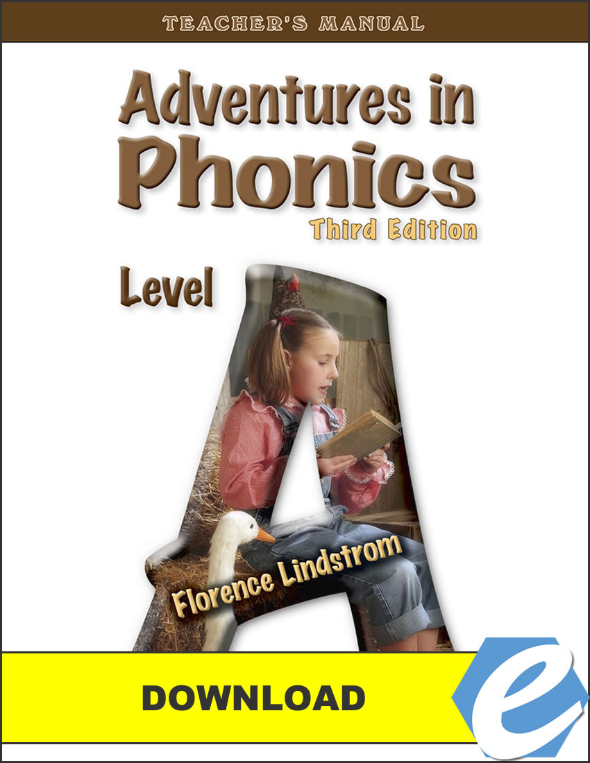 Adventures in Phonics: Level A, 3rd edition - Teacher's Manual - PDF