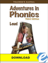 Adventures in Phonics: Level A, 3rd edition - Teacher's Manual - PDF Download