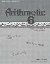 Arithmetic 6, 4th edition - Teacher Quiz, Test, & Speed Drill Key