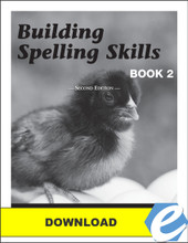 Building Spelling Skills: Book 2, 2nd edition - Answer Key - PDF Download